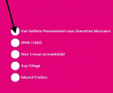 Stem op Gianotten Mutsaers voor de bonk op 6 januari